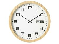 Collection Eva Oak Finish Day and Date Clock