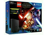 New Slim PS4 500gb with Star Wars Game and Free Blu-Ray movie