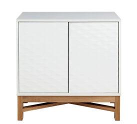 Hygena Zander Textured Small Sideboard - White & Oak Effect