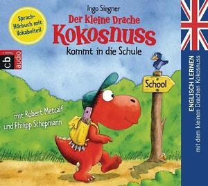 Der kleine Drache Kokosnuss kommt in die Schule - Englisch lernen - CD Neu/OVP