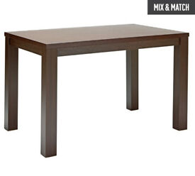 HOME Pemberton Wood Veneer 4 Seater Table - Walnut