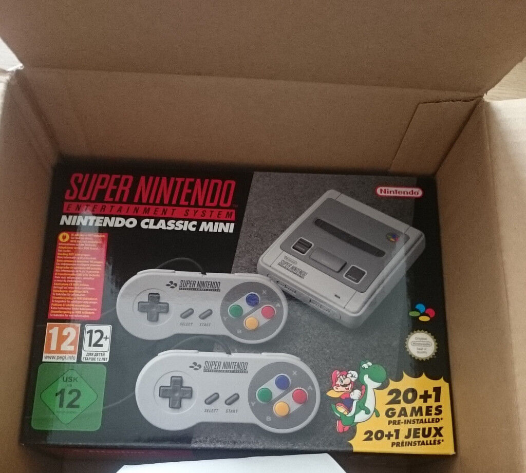 SNES Super Nintendo Entertainment System Classic Mini BNIB UNOPENED