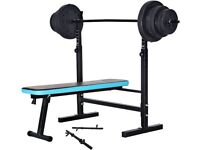 folding bench with 70kg weights