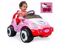 6volt hello kitty battery ride on car (never used)