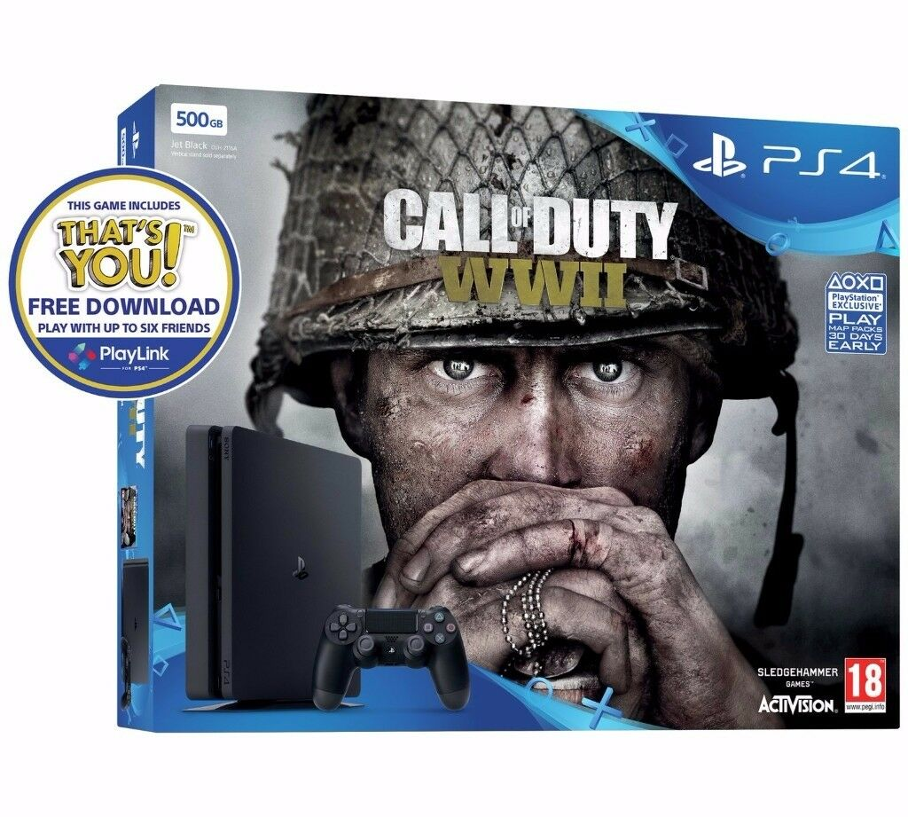 Brand new PS4 with COD WWII