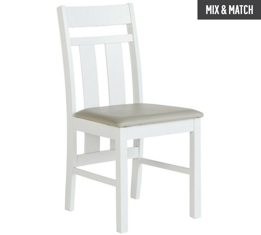 Heart Of House Pair Castleton Dining Chairs White