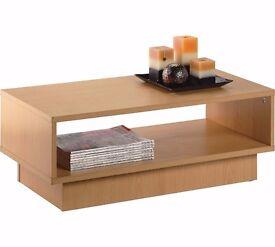 Argos - HOME Cubes 1 Shelf Coffee Table - Beech Effect