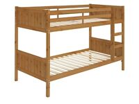 HOME detachable Single Bunk Bed Frame – Antique Pine, condition as new.