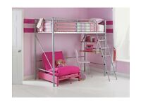 High Sleeper Bunk Bed with Futon (Argos Price £249). Almost new and in perfect condition.