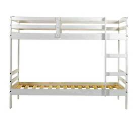 £100 New solid wooden single size bunk bed for sale unused still in the box