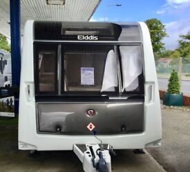 2014 Elddis Crusader Supercyclone (T/A Fixed Single Beds, Full End Washroom ) New air awning free )