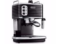 De'Longhi ECZ351BLK Scultura Espresso Coffee Machine in black, VGC.