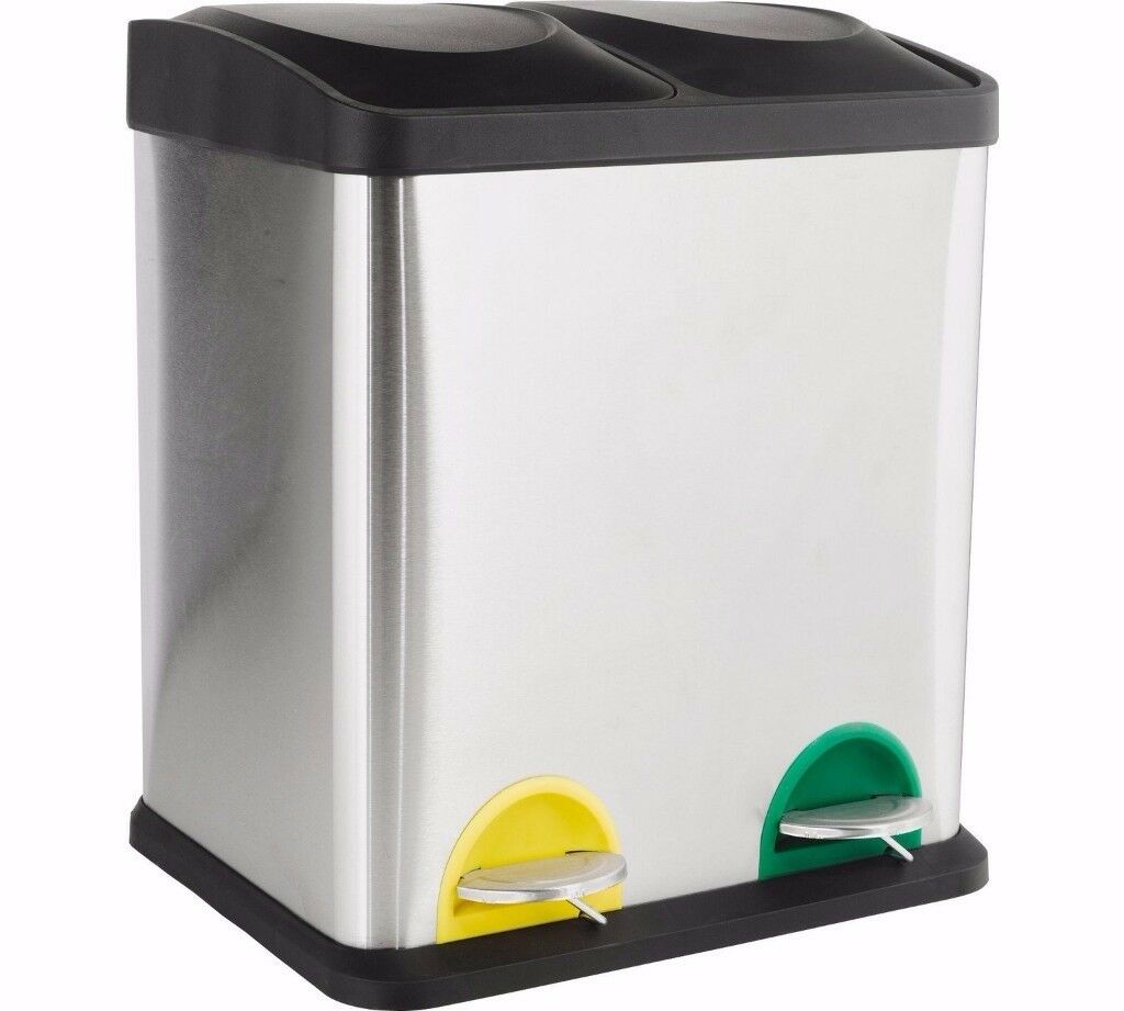 ARGOS - 30 Litre Recycling Pedal Bin With 2 Compartments - RRP£48