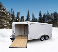 2015 United 7x19 - 7x25 Enclosed Sled Trailers