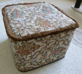 Patterned soft square Pouffe/Footstool