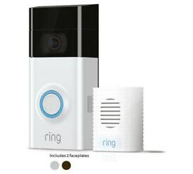 Ring Video Doorbell 2 and Chime Bundle