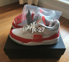 finest selection 44150 7366d BRAND NEW IN BOX AIR JORDAN RETRO 3 TINKER - WHITE UNIVERSITY RED NEUTRAL  GREY