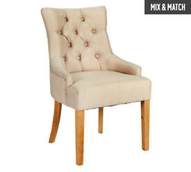 Heart of House Pair of Cream Cherwell Dining Chairs