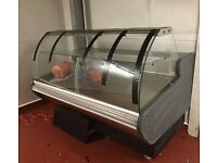 Serve over display counter fridge (1.74m long) immaculate