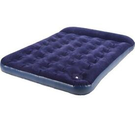 Double Air Bed With Built-in Foot Pump