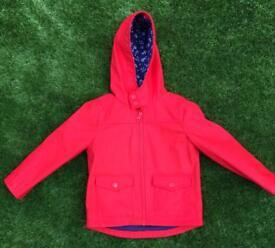 Girls Red Raincoat