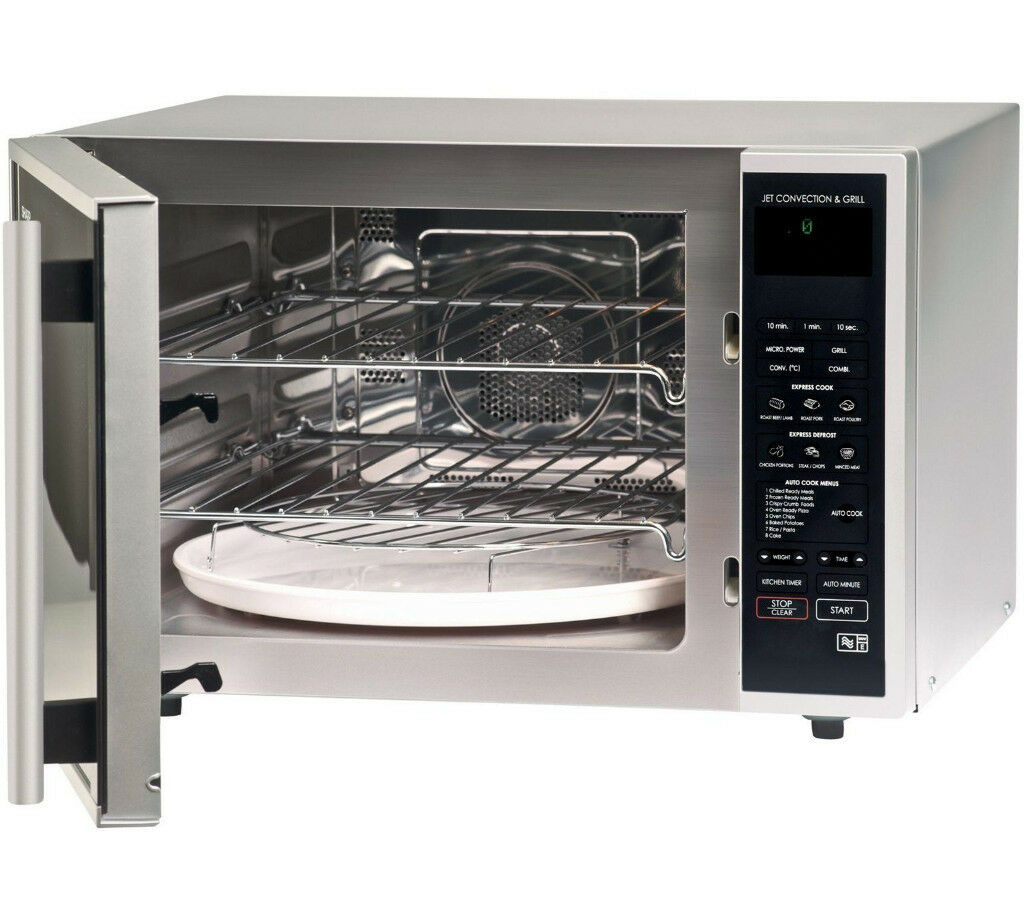Brand New Sharp R959slmaa 40 Litre Combination Microwave Oven Grill Silver 12 Months