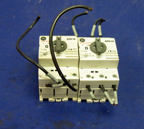GENERAL ELECTRIC SFK1E VARIOUS MOTOR STARTERS *LOT OF 2* *PZF*