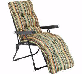 3x Multi-Position Sun Lounger with Cushion