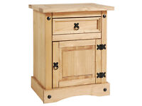 Solid wood bedside cabinet, matching pair