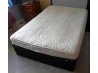 Memory Sprung 4 Drawer Double Bed with Mattress .