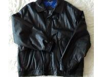 Marks and Spencer Black Genuine Leather Man's Bomber Jacket