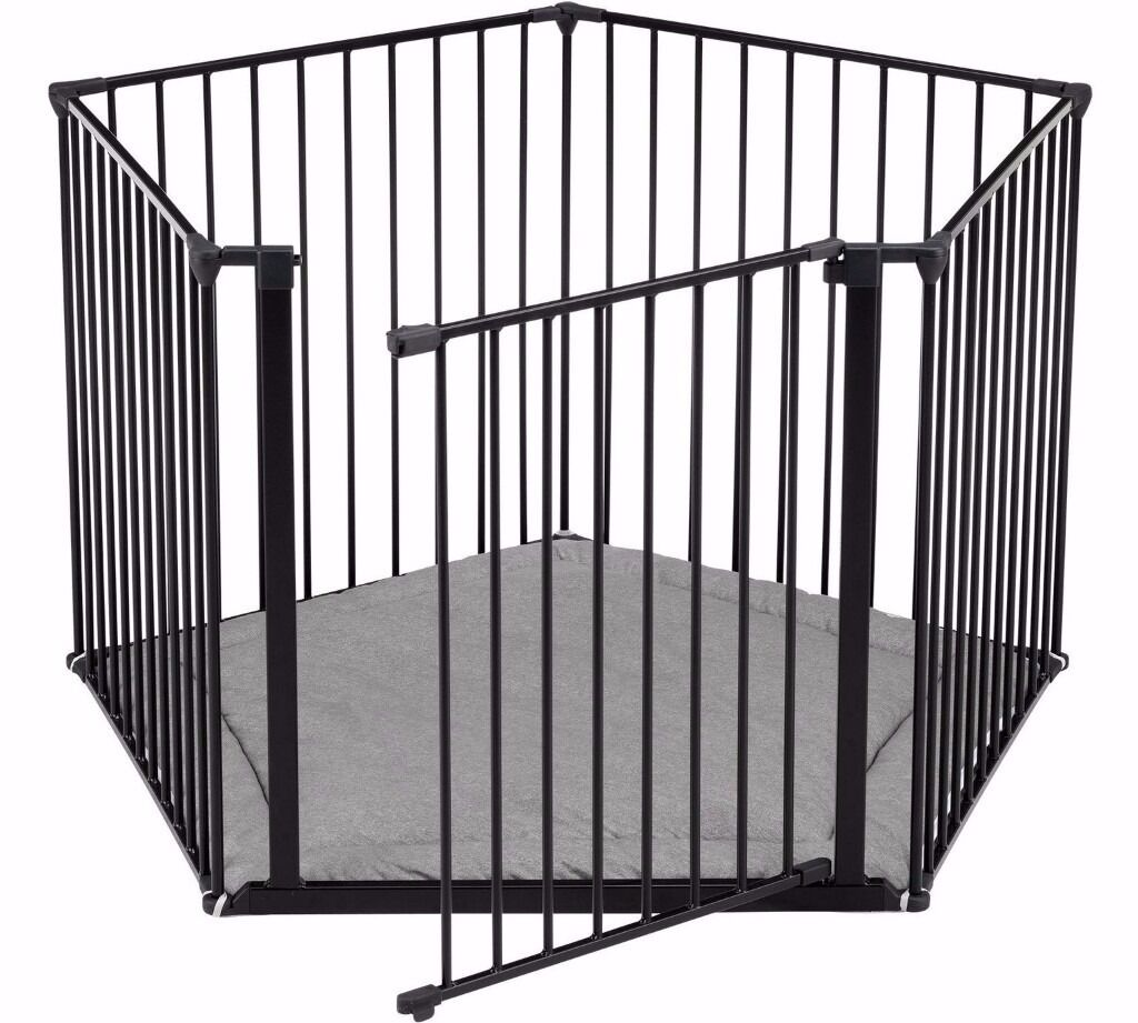 Used BabyDan Playpen safety gate room divider in black with