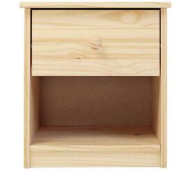 HOME Jakob 1 Drawer Bedside Chest - Pine