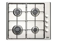 Beko Gas Hob - Stainless Steel - Brand new for sale.