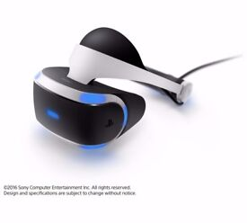 NEW UK Official Sony PlayStation PS VR Headset WITH CAMERA PSVR PS4