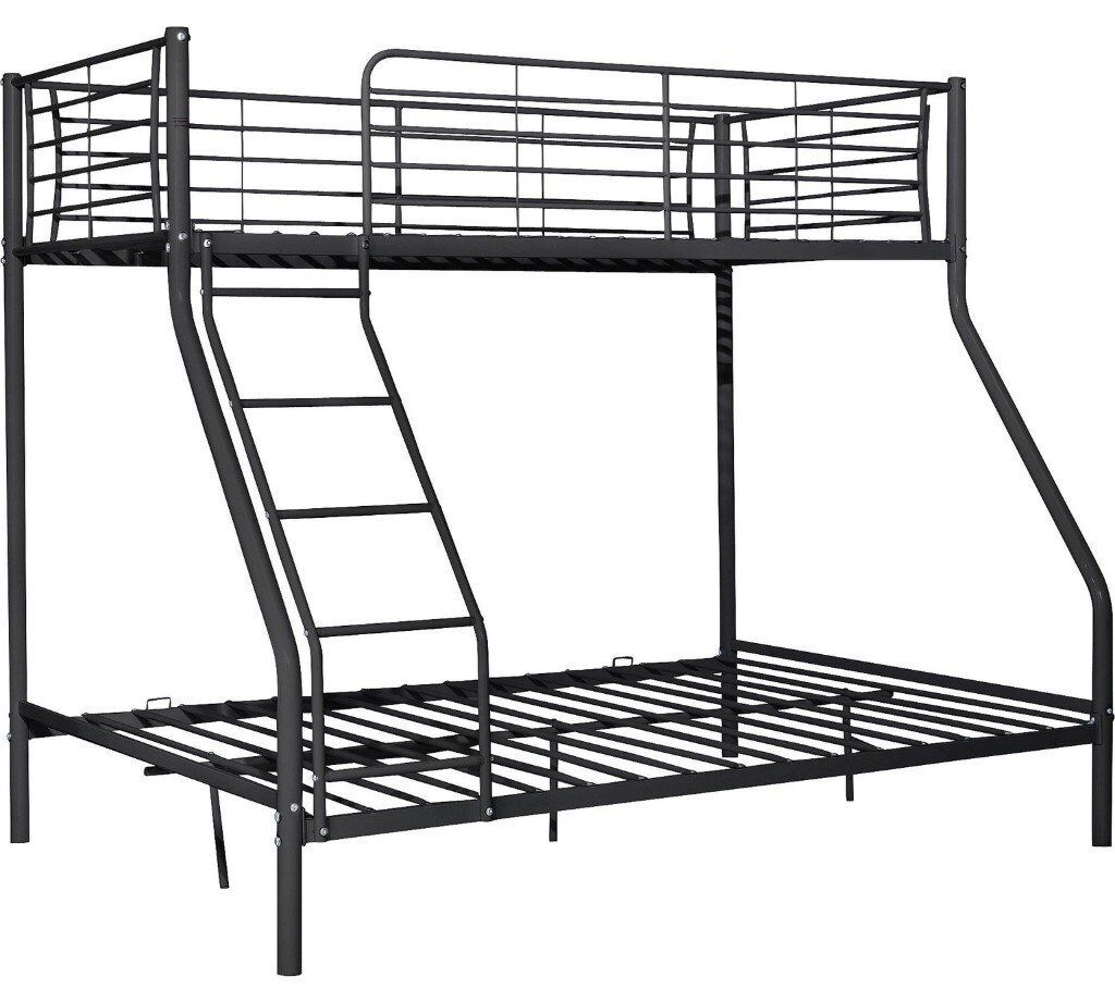 Used Argos Lucas Metal Triple Bunk Bed Frame Black In Bulwell