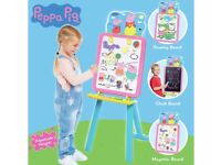 peppa pig easel(in box)learning activity chair. pink and purple activity table brand new without box