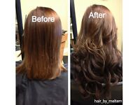 Hair extensions,nano rings, micro rings, tape, weft, braid/ weft, wig and keratin bond