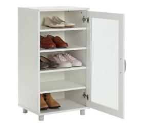 Contemporary shoe cabinet - white