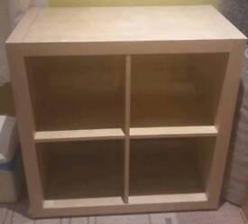 Wanted wood effect ikea kallax 4 square storage unit
