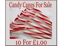 These candy canes would make great wedding favours