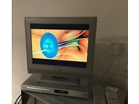"""MIKOMI 15"""" LCD TV AND PHILIPS DVD PLAYER, BOTH WITH REMOTES AND FULL INSTRUCTIONS."""