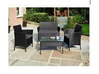 Patio Sofa Garden Furniture Set 4Pc