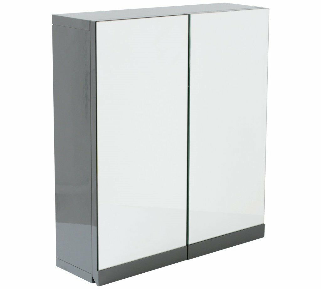 Hygena Gloss Double Door Bathroom Wall Cabinet - Grey | in East ...