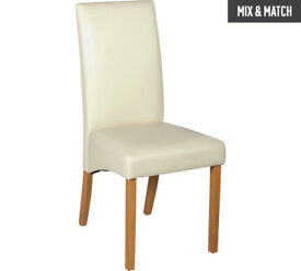 Collection Pair of Skirted Dining Chairs - Cream
