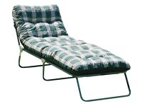 Multi-Position Sun Lounger with Cushion - Green Brand New