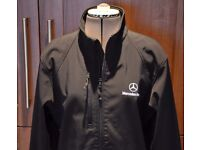Mercedes Benz Black soft shell type jacket Size 140 M. Perfect Condition - £45