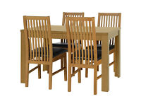 HOME Penley Extendable Table and 4 Paris Chairs - Oak Stain