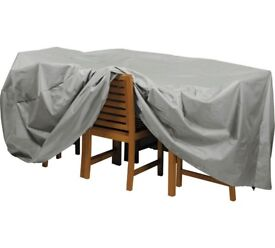 HOME Deluxe Extra Large Patio Set Cover - 9ft x 5ft perfect for oval table Size H95, W210, L270cm
