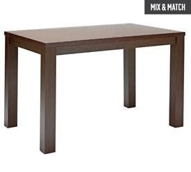 HOME Pemberton Wood Veneer 4 Seater Table - Walnut